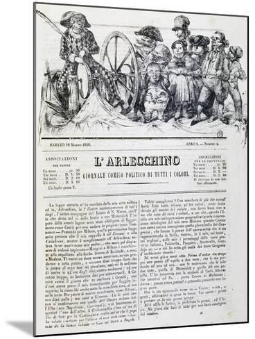 Harlequin, Newspaper, Number 4, 18 March, 1848--Mounted Giclee Print
