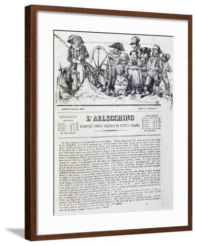 Harlequin, Newspaper, Number 4, 18 March, 1848--Framed Art Print