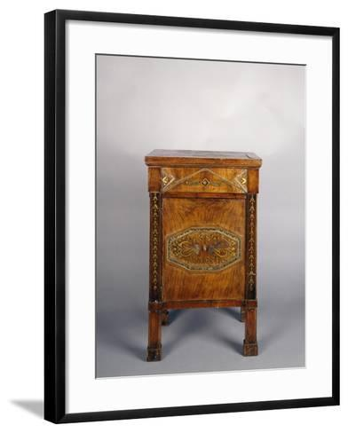 Bedside Table with Drawer and Door--Framed Art Print