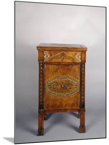 Bedside Table with Drawer and Door--Mounted Giclee Print