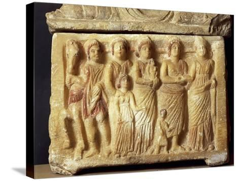Alabaster Urn Depicting a Scene of a Funeral Procession, 5th Century BC--Stretched Canvas Print