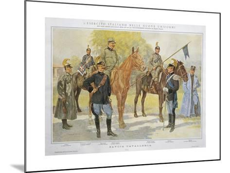 New Uniforms of Savoy Cavalry, 1913--Mounted Giclee Print
