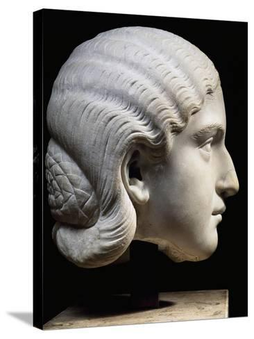 Marble Head of Empress Orbiana, Emperor Alexander Severus' Wife, 225-229--Stretched Canvas Print