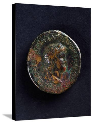 Coin Bearing Image of Emperor Nero, Roman Coins Ad--Stretched Canvas Print