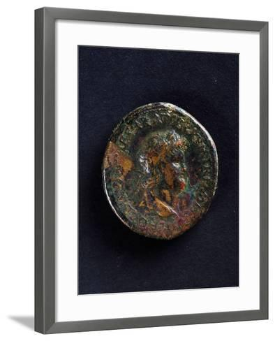 Coin Bearing Image of Emperor Nero, Roman Coins Ad--Framed Art Print