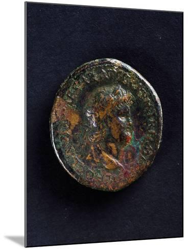 Coin Bearing Image of Emperor Nero, Roman Coins Ad--Mounted Giclee Print