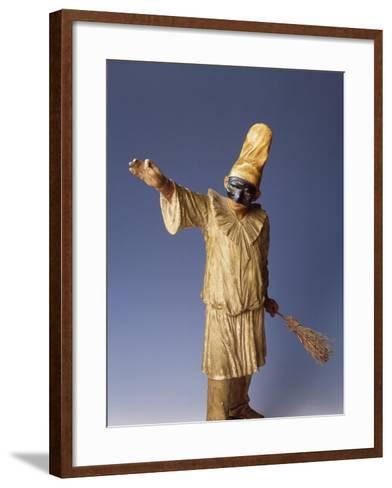 Statuette of Pulcinella, Terracotta, Detail, Italy--Framed Art Print
