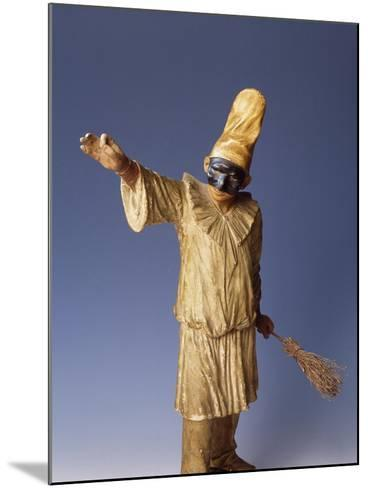 Statuette of Pulcinella, Terracotta, Detail, Italy--Mounted Giclee Print