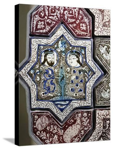 Panel, Ceramic, from Damghan Tomb, Kashan Province, Detail, Persia, 13th-14th Century--Stretched Canvas Print