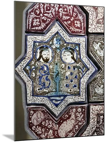 Panel, Ceramic, from Damghan Tomb, Kashan Province, Detail, Persia, 13th-14th Century--Mounted Giclee Print