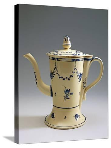 Argyll Pearlware Teapot with Floral Decoration, 1780--Stretched Canvas Print