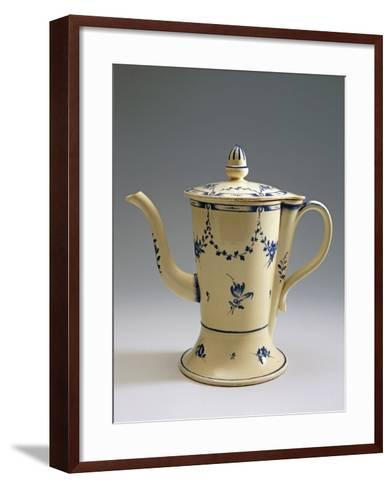 Argyll Pearlware Teapot with Floral Decoration, 1780--Framed Art Print