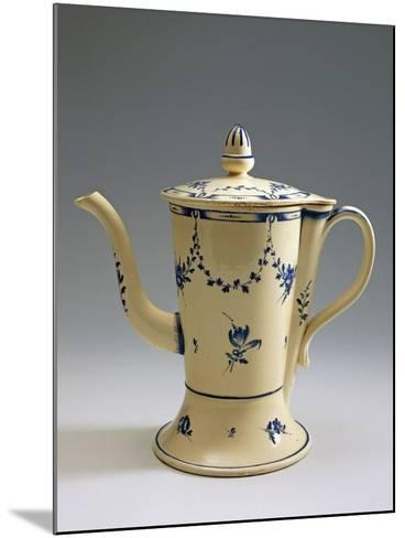Argyll Pearlware Teapot with Floral Decoration, 1780--Mounted Giclee Print