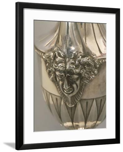 Vase-Shaped Silver Coffeepot, Detail: Decoration Depicting Medusa's Head--Framed Art Print