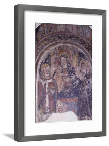 Madonna Enthroned with Child and Saints, Church of San Pietro, Otranto, Apulia, Italy--Framed Art Print