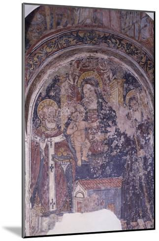 Madonna Enthroned with Child and Saints, Church of San Pietro, Otranto, Apulia, Italy--Mounted Giclee Print
