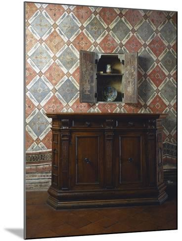 Walnut Sideboard, Italy, Second Half 16th Century--Mounted Giclee Print