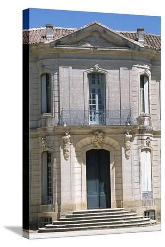 Chateau D'Angarran Main Facade, Near Laverune, Languedoc-Roussillon, Detail, France--Stretched Canvas Print