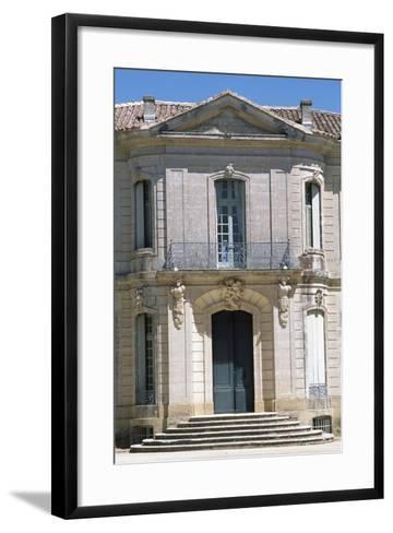 Chateau D'Angarran Main Facade, Near Laverune, Languedoc-Roussillon, Detail, France--Framed Art Print