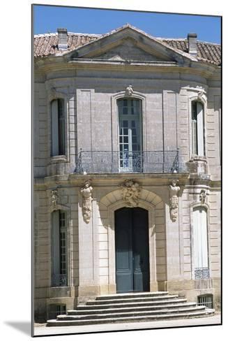 Chateau D'Angarran Main Facade, Near Laverune, Languedoc-Roussillon, Detail, France--Mounted Giclee Print