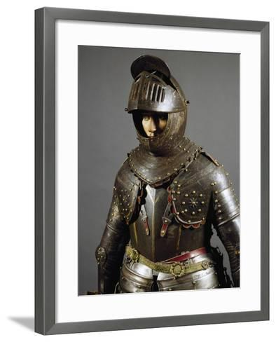 Corselet in Burnished Steel, England, First Half of 17th Century--Framed Art Print