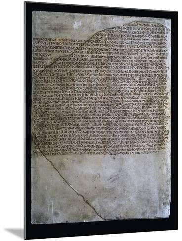 Inscription of Carmen Arvale, Chant of Arval Priests or Fratres Arvales, 218--Mounted Giclee Print