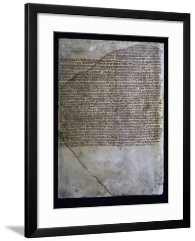 Inscription of Carmen Arvale, Chant of Arval Priests or Fratres Arvales, 218--Framed Art Print