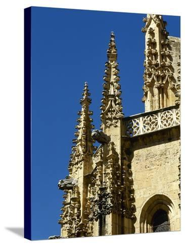 Gothic Art, Spain, Segovia, Cathedral, 16th Century, Exterior, Pinnacles--Stretched Canvas Print