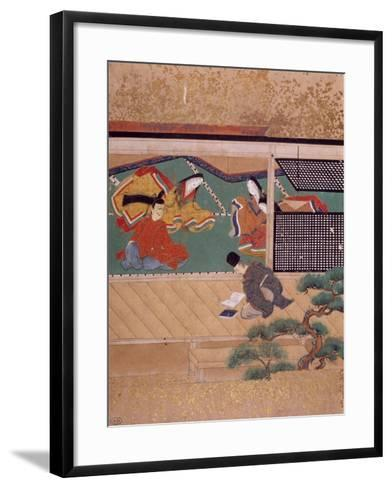 Reading Marriage Contract--Framed Art Print
