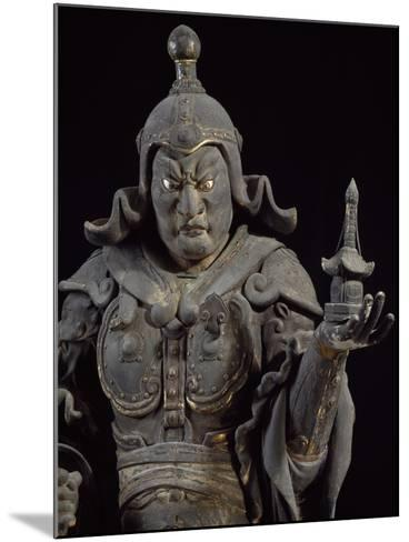 Bishamon-Ten, Guardian of the North, Lacquered Cypress Wood Statue, Japan--Mounted Giclee Print