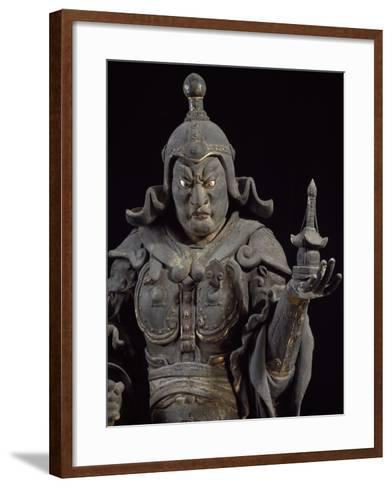 Bishamon-Ten, Guardian of the North, Lacquered Cypress Wood Statue, Japan--Framed Art Print