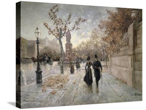 A Walk Along Maximilian Street in Munich, Germany--Stretched Canvas Print