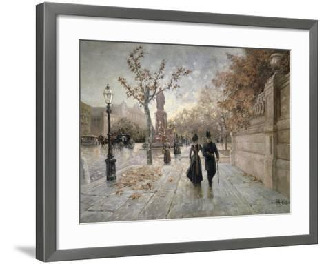 A Walk Along Maximilian Street in Munich, Germany--Framed Art Print