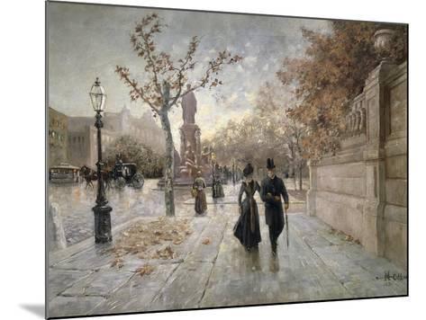 A Walk Along Maximilian Street in Munich, Germany--Mounted Giclee Print