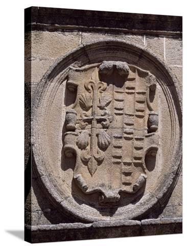 Spain, Extremadura, Caceres, Plaza De Santa Maria, Overdo Palace, Emblem of Ovando-Ulloa--Stretched Canvas Print