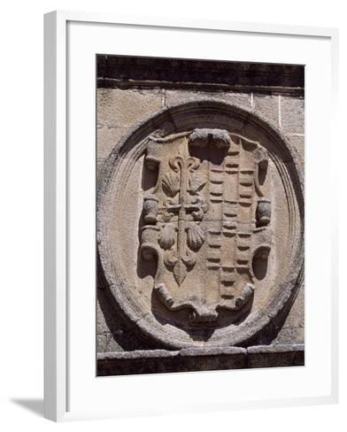 Spain, Extremadura, Caceres, Plaza De Santa Maria, Overdo Palace, Emblem of Ovando-Ulloa--Framed Art Print