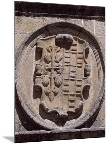 Spain, Extremadura, Caceres, Plaza De Santa Maria, Overdo Palace, Emblem of Ovando-Ulloa--Mounted Giclee Print