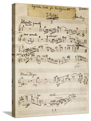Handwritten Score of Lyric Suite by Alban Berg--Stretched Canvas Print