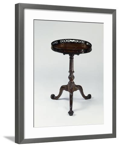 George III Style Mahogany Three-Legged Table, Ca 1760, United Kingdom--Framed Art Print