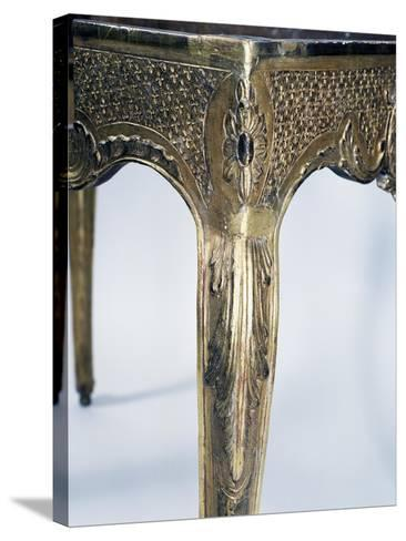 Regency Style Carved and Gilt Wood Table, France, First Half 18th Century, Detail--Stretched Canvas Print
