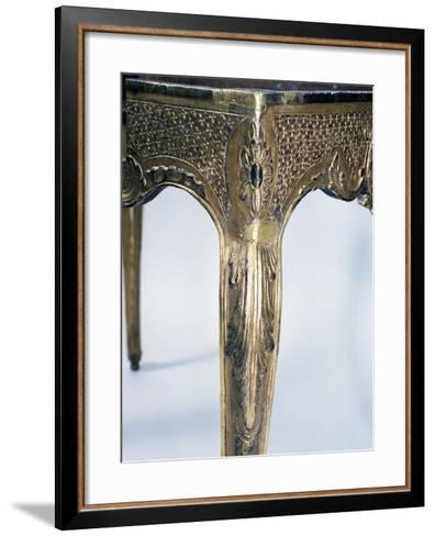 Regency Style Carved and Gilt Wood Table, France, First Half 18th Century, Detail--Framed Art Print