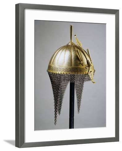 Helmet in Steel and Gold, Indian Manufacture, India, End of 18th Century--Framed Art Print