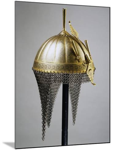 Helmet in Steel and Gold, Indian Manufacture, India, End of 18th Century--Mounted Giclee Print