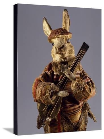 Bunny with Mandolin, Detail, Germany, Late 19th Century--Stretched Canvas Print