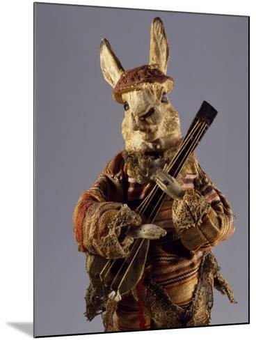 Bunny with Mandolin, Detail, Germany, Late 19th Century--Mounted Giclee Print