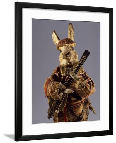 Bunny with Mandolin, Detail, Germany, Late 19th Century--Framed Art Print