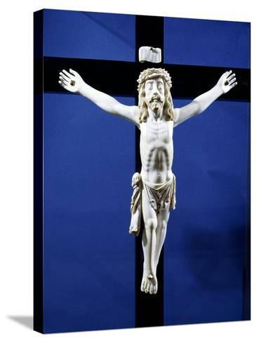 Ivory Crucifix Found on Board Manila Galleon Which Traded with Acapulco, Mexico--Stretched Canvas Print
