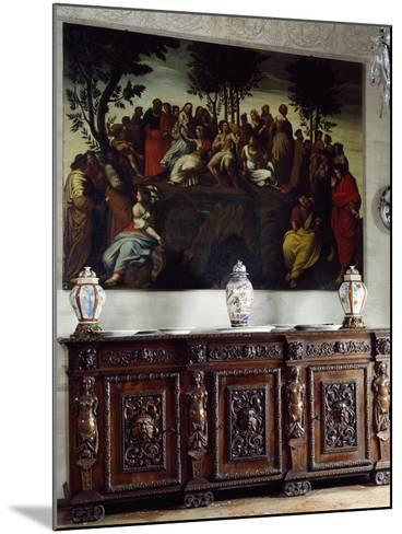Italy, Somma Lombardo, Castello Visconti Di San Vito, Detail of Credenza in Dining Room--Mounted Giclee Print
