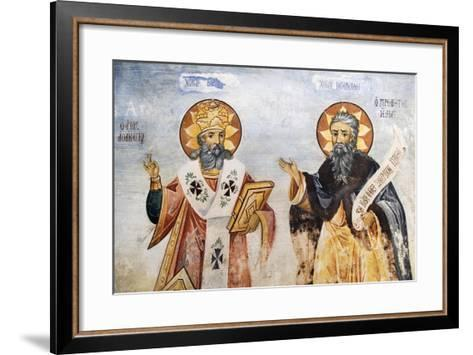 Saints in Church of the Virgin Mary, Bachkovo Monastery, Rhodope Mountains, Bulgaria--Framed Art Print