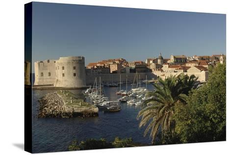 Croatia, Dalmatia, Dubrovnik, Port Near Old Town--Stretched Canvas Print